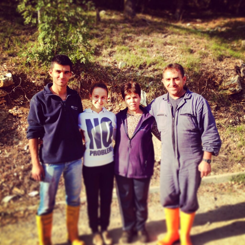Our Cellar Team the Family Krasniqui at the end of the harvest